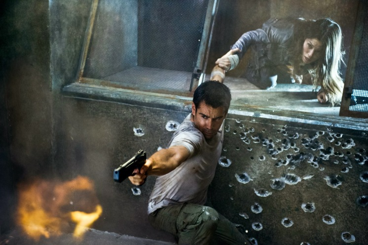 Colin Farrell and Jessica Biel star in Columbia Pictures' action thriller TOTAL RECALL.